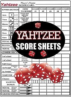 Best large yahtzee score sheets Reviews