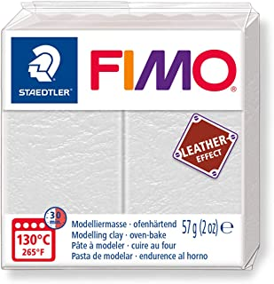 STAEDTLER Fimo Leather-Effect Oven-Hardening Modelling Clay Ivory Colour 8010-29