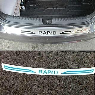 Skoda Rapid spaceback tipo nh parachoques charol lámina de protección película protectora 10094