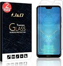 J&D Compatible for 2-Pack P20 Lite Glass Screen Protector, [Tempered Glass] [Not Full Coverage] Clear Ballistic Glass Screen Protector for Huawei P20 Lite Screen Protector - Not for Huawei P20/P20 Pro