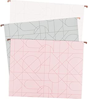 U Brands Modern Pretty Fashion Hanging File Folders, Letter Size, Assorted Colors, 12 Pack