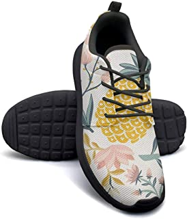 Hawaii Palm Leaves Colorful Zebra Ladies Sneakers for Women Low Top Non-Slip Comfortable Walking Shoes