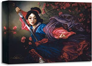 Disney Fine Art The Elegant Warrior by Heather Theurer Treasures on Canvas Mulan 12 Inches x 16 Inches Reproduction Gallery Wrapped Giclée on Canvas Wall Art