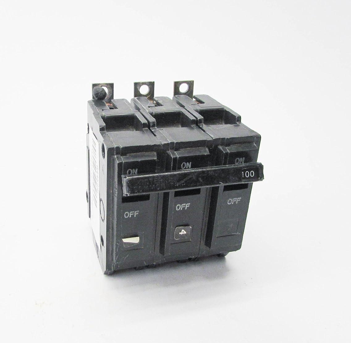 GE THQB32100 Bolt-On Mount Type THQB Miniature Circuit Breaker 3-Pole 100 Amp 240 Volt AC