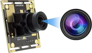 5 MP usb Webcam Mini Camera Board Module High Definition 2592X1944 Webcam CMOS OV5640 Image Sensor USB with Camera,2.1mm Lens Cameras Support Most OS,UVC Compliant Web Cams,Plug&Play USB2.0 Web Camera
