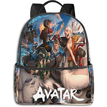 Dfmdfng Avatar The Last Airbender Appa USB Backpack 17 in Unisex Laptop Backpack Travel,Durable Waterproof with USB Charging Port