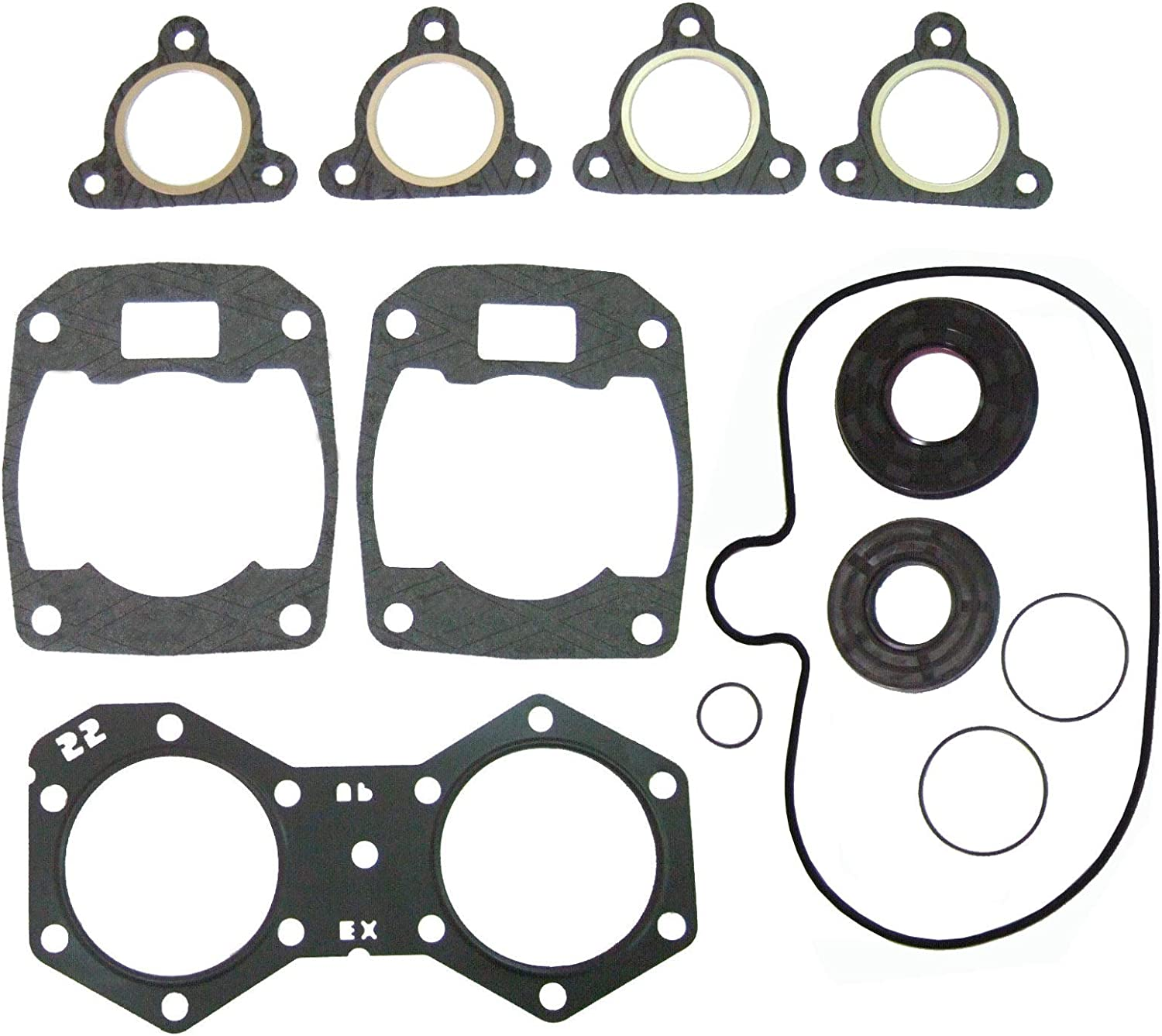 Complete Gasket Kit for Snowmobile Polaris 550 LX Shift 136 IQ 09711286, New