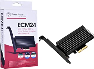 Silverstone SST-ECM24 - SuperSpeed PCI-E Express Card X4 to M.2 (NVMe SSD NGFF), alu. heatsink and Thermal pad