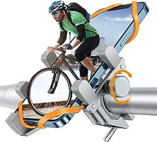 DesertWest Telefoonhouder voor fiets, extreem stabiel en valt nooit af, luchtvaart-aluminiumlegering, voor buiten, smartph...