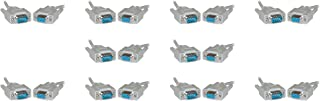 Null Modem Cable, DB9 Female, UL rated, 8 Conductor, 10 foot - 10 Pack