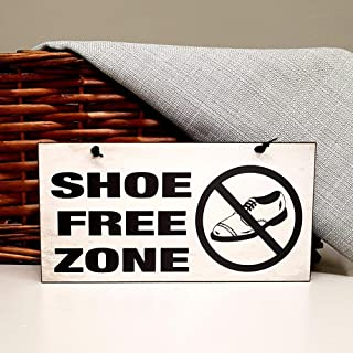 Best shoe free zone sign Reviews