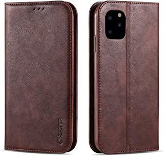 For iPhone 11 Pro Max Retro Texture Magnetic Horizontal Flip PU Leather Case with Holder & Card Slots & Photo Frame New (Black) Hengk (Color : Brown)
