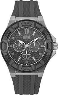 Guess Men's Black Dial Silicone Band Watch - W0674G8