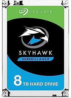 Seagate Skyhawk Surveillance Internal Hard Drive, 8 TB Capacity, 256 MB Cache, 3.5 Inch Size