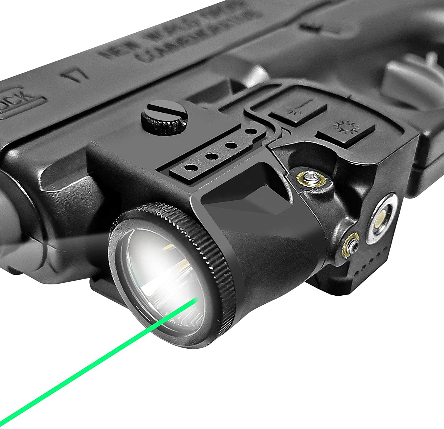 Flashlight Laser Sight Combo,Compact Green Laser and Light Combo,Tactical Picatinny