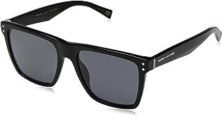 95755f5f263c Marc Jacobs Men's Marc119s Polarized Rectangular Sunglasses, Black, 54 mm