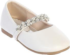 iGirlDress Infant Toddler Girls Straps Flower Girls Shoes (Size 1-8)