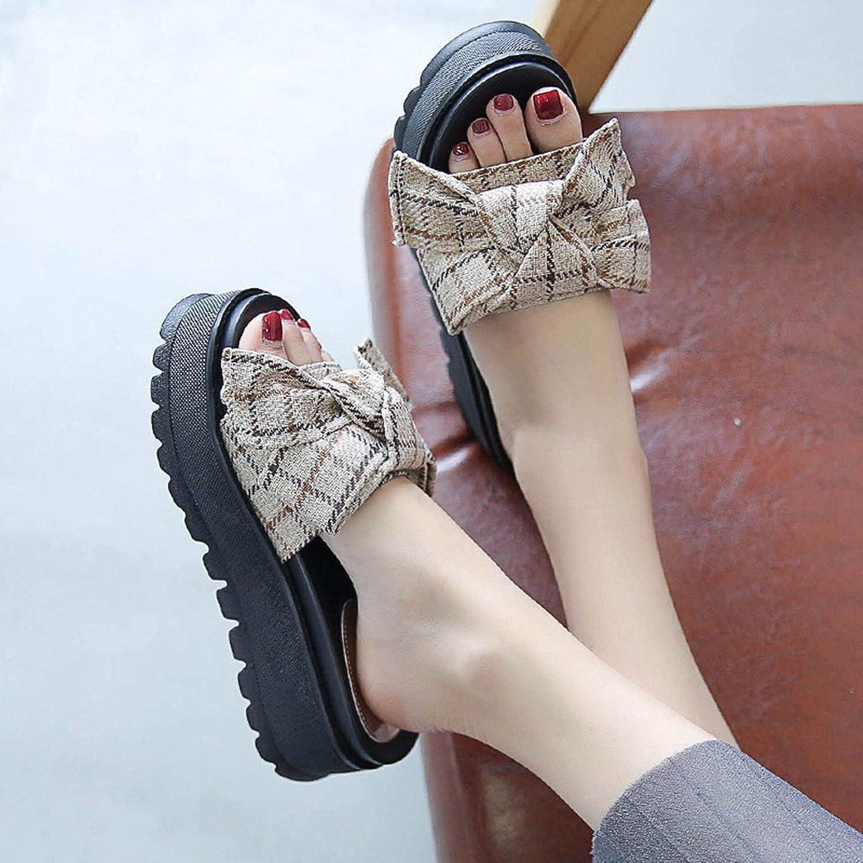 QPSSP Schuhe Mit Hohen Abstzen, High Heels Und Fliegen,36,Khaki.
