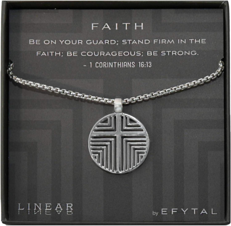 EFYTAL Religious Gifts for Men Sterling Silver Cross 4 years warranty Men's Luxury