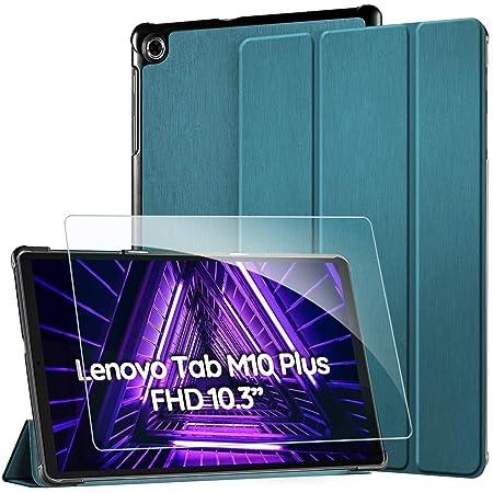 EasyAcc -Custodia Cover Compatibile con Lenovo Tab M10 FHD Plus (2nd Gen) 10.3 Ultrasottile Pellicola Protettiva Slim Smart Case Compatibile con Lenovo Tab M10 Plus TB-X606F/TB-X606X,Blu Pavone