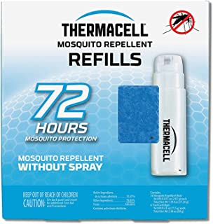 Thermacell Mosquito Repellent Refills, 72-Hour Pack; Contains 18 Repellent Mats, 6 Fuel..