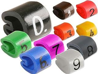 Z-type Fil de câble marqueurs étiquettes Tag Gestion 3,4–5,7mm à code couleur–Numéro 0–910000pcs
