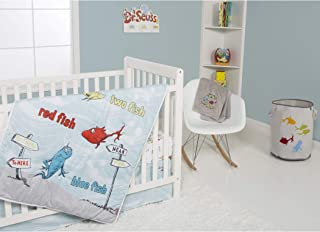 Trend Lab Dr. Seuss One Fish Two Fish 4Piece Crib Bedding Set Nursery Baby Bedding