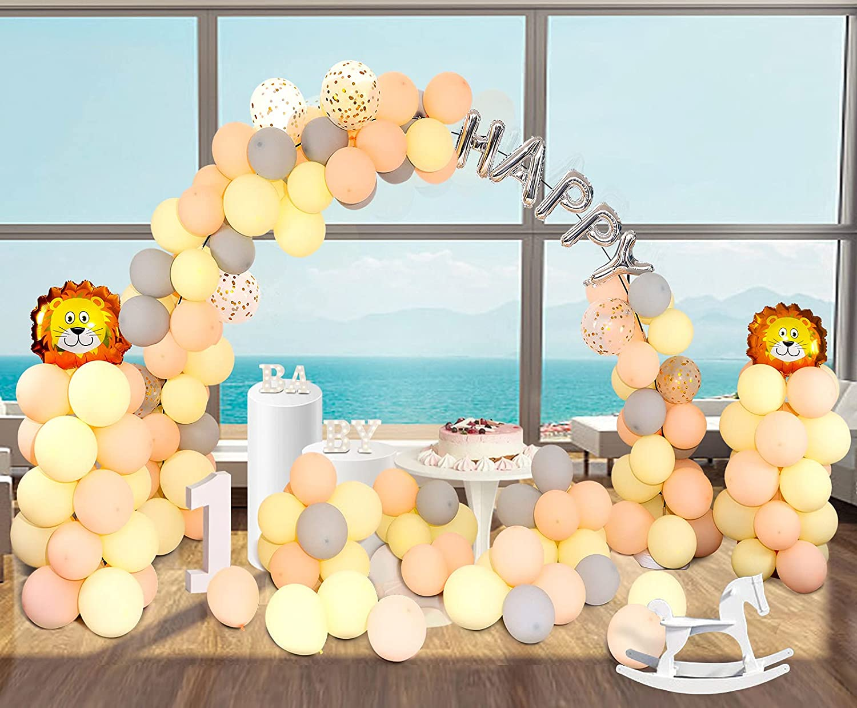 Kit de Arco de Globos, 170 Globos de Látex Macaron Naranja y Amarillo, Con Soporte de Arco de Globos y un Juego de Herramientas de Decoración de Globos, Para Cumpleaños, Decoraciones de Baby Shower