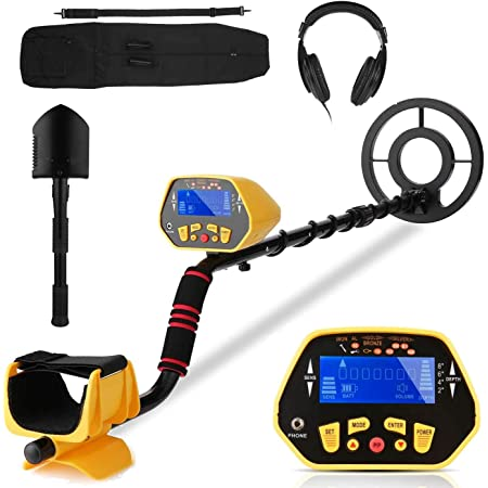 Compact /& Robust Design Discriminates Between Different Types of Metals View Meter MYLEK® XP pLus All Terrain Metal Detector Kit FREE Headphones 3-in-1 Shovel Tool Included Detects all Gold Ferrous and Non-Ferrous Metals Lightweight Silver Pointer