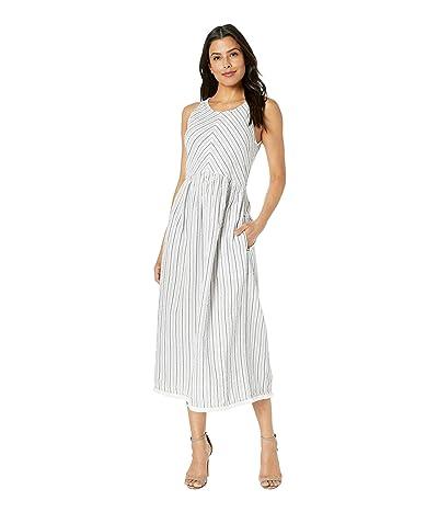 Lilla P Yarn-Dye Stripe Button Back Dress (Stripe) Women