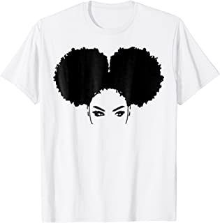 Strong Black Woman Natural Curly Girl Afro Hair T-Shirts
