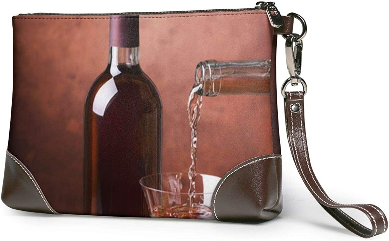 High order Beverage Restaurant Attention brand Clutch Purses Wallet Leather Wristlet