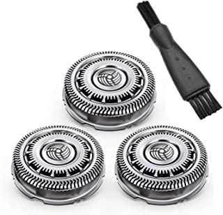 CLCK SH90 Replacement Heads for Philips Norelco Shaver Series 9000 Series 8000, S8950 S9311, S9321, S9511, S9531, S9721, SW6700 & SW9700 Electric Shavers(3 Packs)