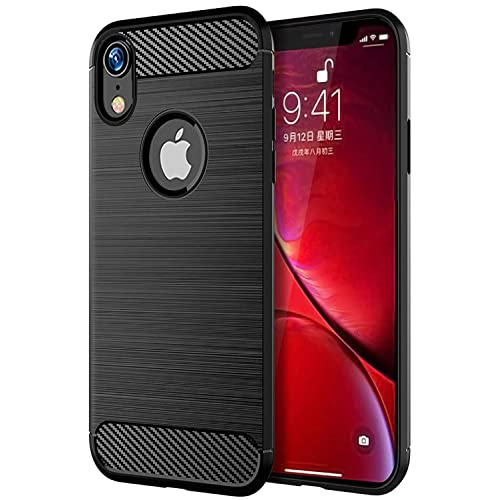 ab4bf709e835 The Keep Talking Shop Protective Grip iPhone XR Case Carbon Fiber Gel TPU  Silicone Slim Soft
