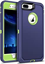 WESADN Case for iPhone 8 Plus Case,iPhone 7 Plus Case Protective Heavy Duty Cover Men Women Shockproof Full Body Protection Anti Scratch Hard Case for iPhone 7 Plus,iPhone 8 Plus,5.5 Inches,Navy Blue