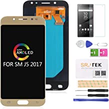 for J5 Pro Screen Replacement LCD -SRJTEK AMOLED LCD Display Touch Screen Digitizer Assembly for Samsung Galaxy J5 PRO 2017 J530 J530F SM-J530F J530S J530K J530L J530Y J530FM J530YM Parts Kit (Gold)