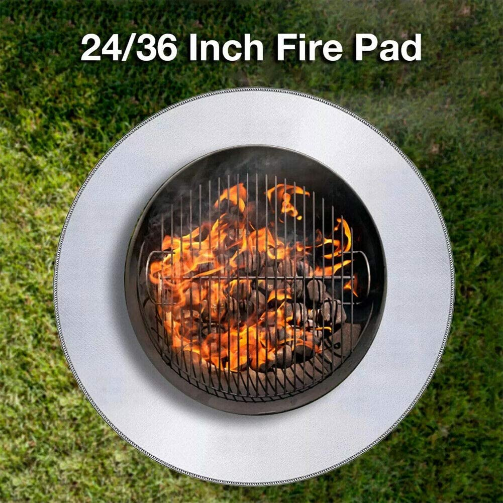 Protects Patio Deck Fire Pit High Temp Mat 24 Fire Pit Mat for Deck//Ground Protector//Outdoor Deck Shield Lawn Fire Pad Deck Protector