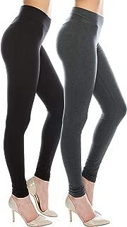 Cotton Spandex Basic Leggings Pants-Jersey Full/Capri...