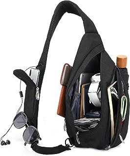 Sling Bag for Men Women Travel Packs Chest Backpack w/Anti-theft RFID Blocking Pocket & USB Charging Port