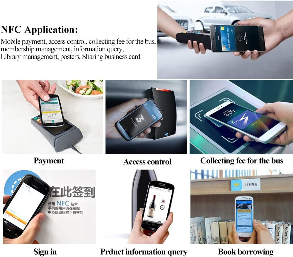 Buy 12pcs Nfc Ntag216 Stickers Tag Adhesive Label Rfid Tags With Ntag216 Chip 924 Bytes Fast Read Write Lock Compatible With All Nfc Enabled Smartphones And Devices 10pieces 2bonus Online In Vietnam B07p9xhmzv