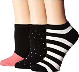 Stripe Multi 3-Pack No Show Socks