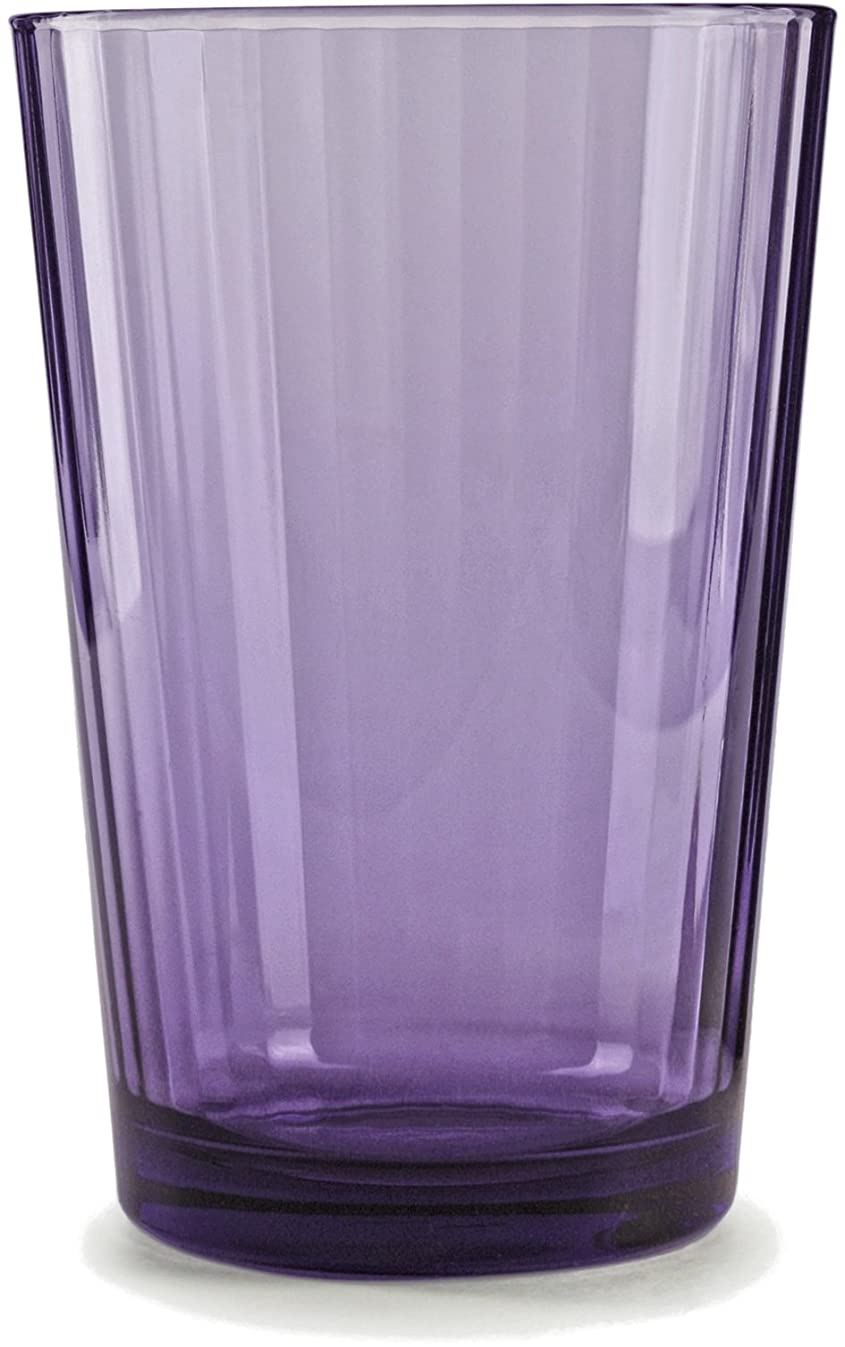 Circleware 44813 Plum Juice Drinking Glasses, Huge Set of 8, Heavy Base Tumbler Beverage Ice Tea Cups, Home & Kitchen Entertainment Glassware for Water, Milk, Beer, Whiskey
