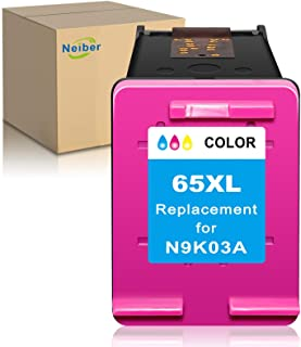 Neiber Remanufactured Ink Cartridge Replacement for HP 65XL 65 XL (1 Color) Fit with Envy 5055 5010 5052 5012 5030 DeskJet...