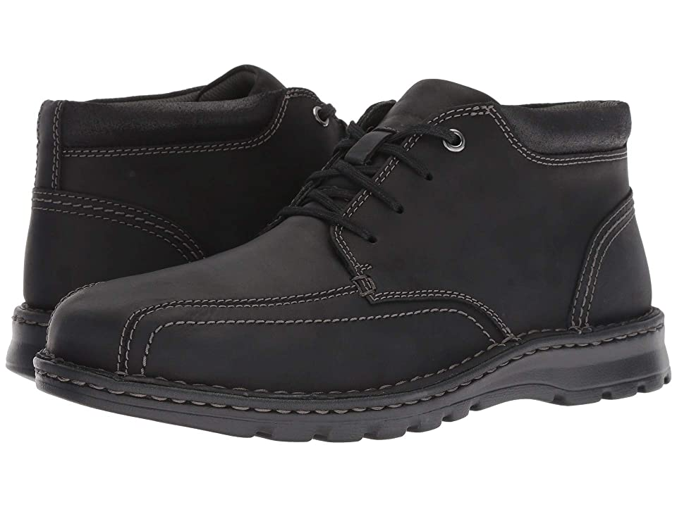 Clarks Vanek Mid (Black Leather) Men