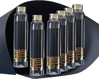 FIMBRIA water bottles 1 litre set of 6, bottles for fridge, Transparent, 1000ml