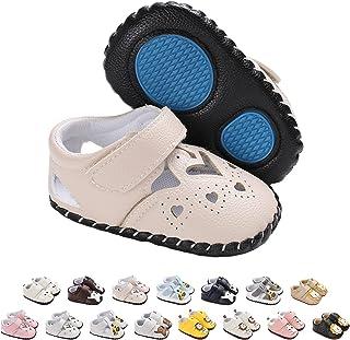 Zapatos de Bebé Lindos Zapatillas Deportivas, Antideslizantes Cuero Suave de PU Recién Nacidos Primeros Pasos Calzado para...