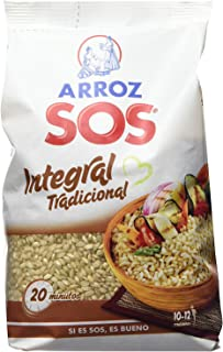 Arroz SOS Integral Tradicional 1 Kg - Pack De 10 - Total 10