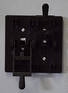YNGLLC Dual Frankenstein Light Switch Cover Plate FLIP Handle 3D Printed Made in USA PR78-2 (Black Plate, Black Handles)