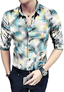 Shirt for Mens Floral Digital Printed Un-Stitched Shirt