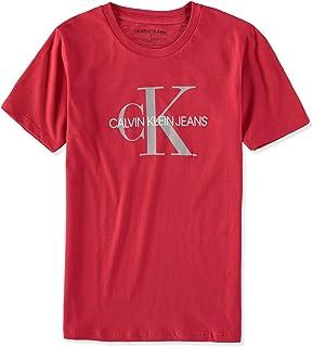Calvin Klein Big Boys' Classic Ck Logo Crew Neck Tee